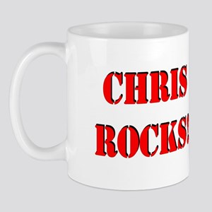 Chris Rocks! (Red) Mug