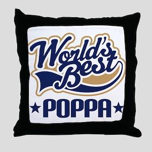 Poppa (Worlds Best) Throw Pillow