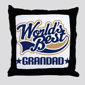Worlds Best Grandad Throw Pillow