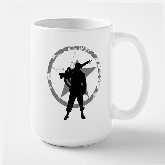 Machine gunner Large Mug