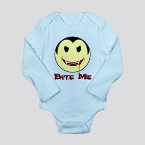 Smiley Face Vampire 'Bite Me' Long Sleeve Infant B