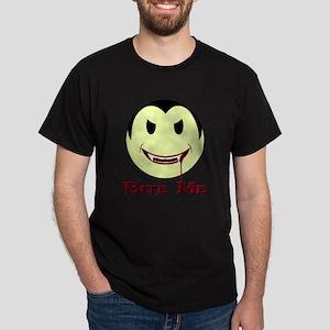 Smiley Face Vampire 'Bite Me' Dark T-Shirt