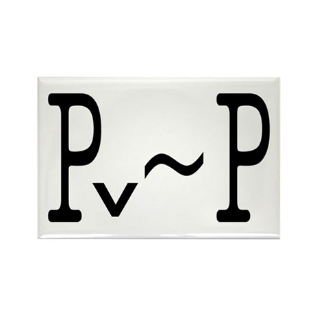 P or not P Rectangle Magnet (10 pack)