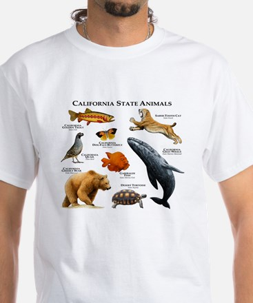 California State Animals White T-Shirt