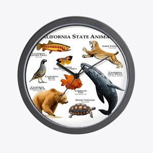 California State Animals Wall Clock