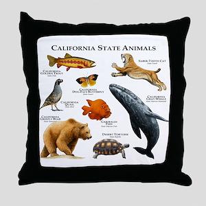 California State Animals Throw Pillow