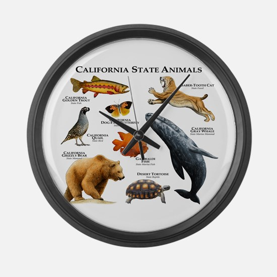 California State Animals Large Wall Clock
