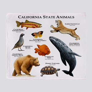 California State Animals Throw Blanket