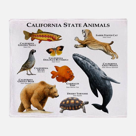 California State Animals Throw Blanket