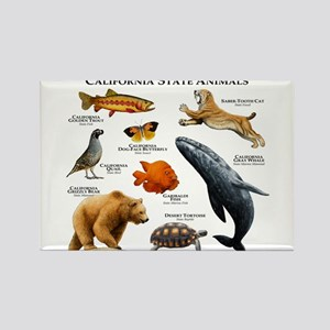 California State Animals Rectangle Magnet