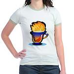 Pop Art - 'Tea Cup' Jr. Ringer T-Shirt