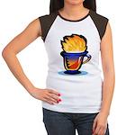 Pop Art - 'Tea Cup' Women's Cap Sleeve T-Shirt