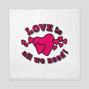 Love Is All Queen Duvet