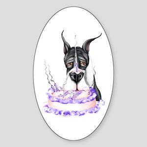Dane Birthday Mantle Oval Sticker