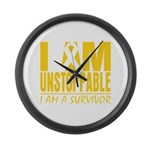 Unstoppable Neuroblastoma Large Wall Clock