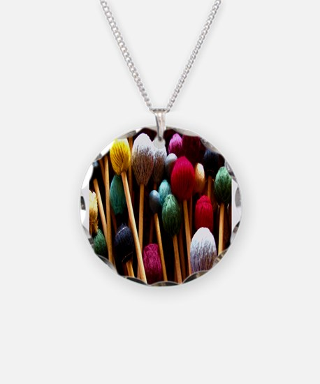 Mallets Necklace Circle Charm