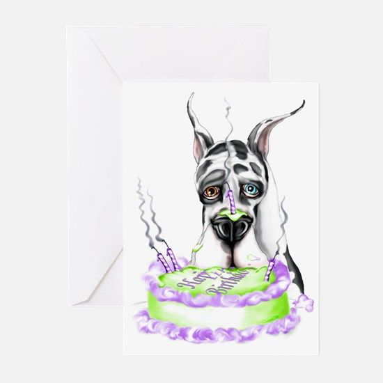 Dane Birthday Harlequin Greeting Cards (Package of