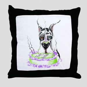 Dane Birthday Harlequin Throw Pillow