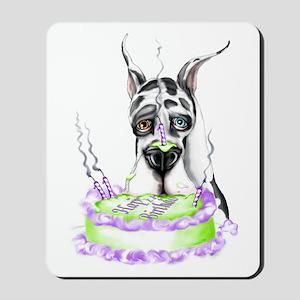 Dane Birthday Harlequin Mousepad