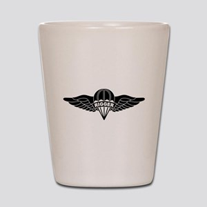 Parachute Rigger B-W Shot Glass