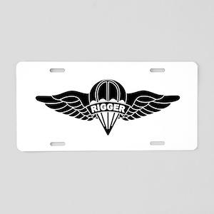 Parachute Rigger B-W Aluminum License Plate