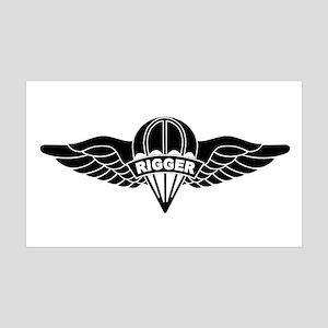 Parachute Rigger B-W 35x21 Wall Decal