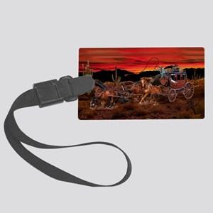Stagecoach Cowboys Luggage Tag