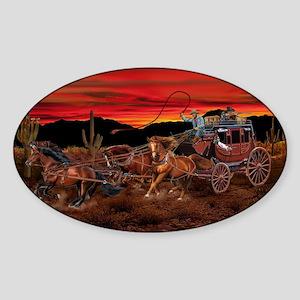 Stagecoach Cowboys Sticker