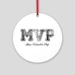 Most Valuable Pop – MVP – Black Ornament (Round)