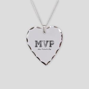 Most Valuable Pop – MVP – Black Necklace Heart Cha
