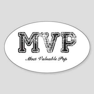 Most Valuable Pop – MVP – Black Sticker (Oval)
