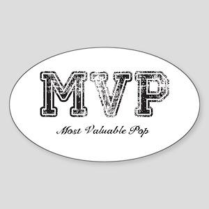 Most Valuable Pop – MVP – Black Sticker (Oval)