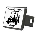Husband, Father, Golfer Rectangular Hitch Cover