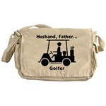 Husband, Father, Golfer Messenger Bag