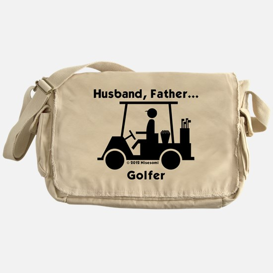 Husband, Father, Golfer Messenger Bag