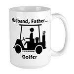Husband, Father, Golfer Large Mug
