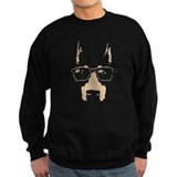 Doberman with glasses Sweatshirt (dark)