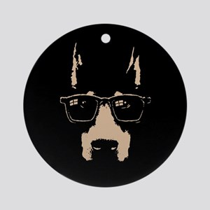 Dobe Glasses Ornament (Round)
