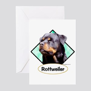 Rottie 3 Greeting Cards (Pk of 10)