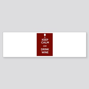 Keep Calm and Drink Wine Sticker (Bumper)