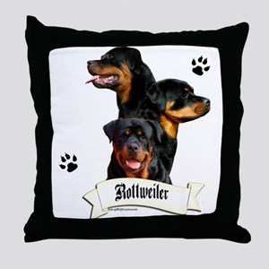 Rottie 4 Throw Pillow