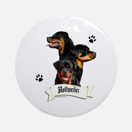 Rottie 4 Ornament (Round)