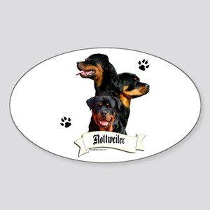 Rottie 4 Oval Sticker