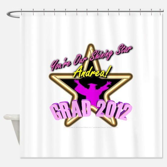 Grad Girls Andrea: 0003 Shower Curtain