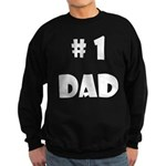 #1Dad (Wh) Sweatshirt (dark)