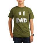 #1Dad (Wh) Organic Men's T-Shirt (dark)