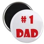 #1Dad (Red) Magnet