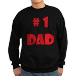 #1Dad (Red) Sweatshirt (dark)