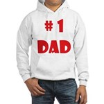 #1Dad (Red) Hooded Sweatshirt