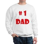 #1Dad (Red) Sweatshirt